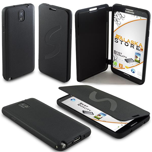 TPU Flip Tasche für Samsung Galaxy Note 3 N9000 N9005 Schutzhülle NewserieVGR7G
