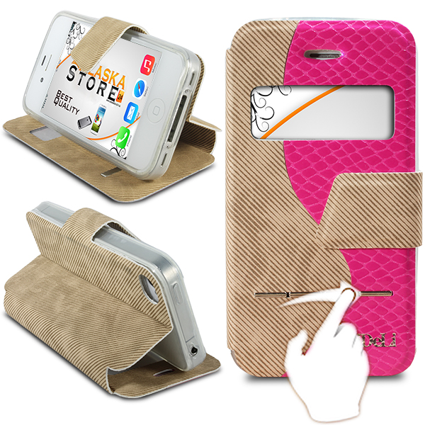 Bookstyle-MeiDeLi-Tasche-mit-Fenster-fuer-iPhone-Serie-Etui-Cool-Bag-Farbauswahl